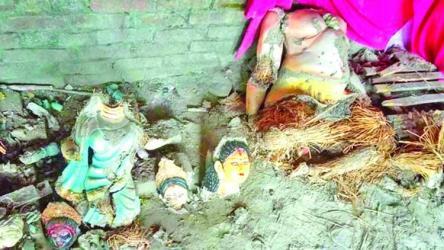Temple vandalized in Kurigram