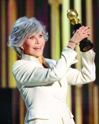 Jane honored for lifetime achievement at Golden Globes