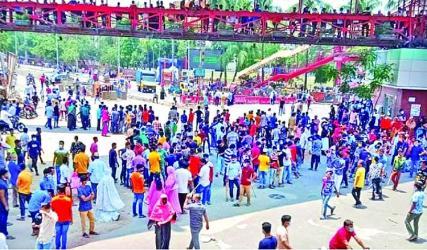 RMG workers demonstrate in Dhaka