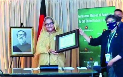 PM receives SDG Progress Award